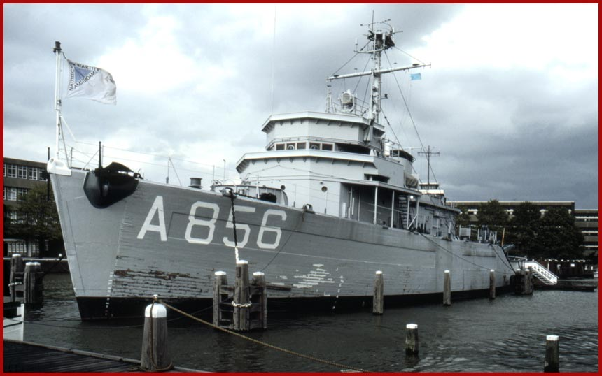 royal dutch navy here as museum ship ex us navy mso mine sweeper ocean